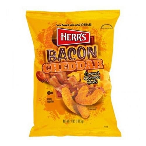 Herr´s Bacon Cheddar Cheese Curls 199g Beutel