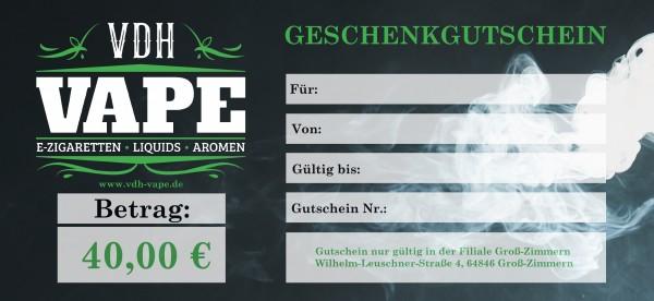 40,00 € Filiale Groß-Zimmern Gutschein