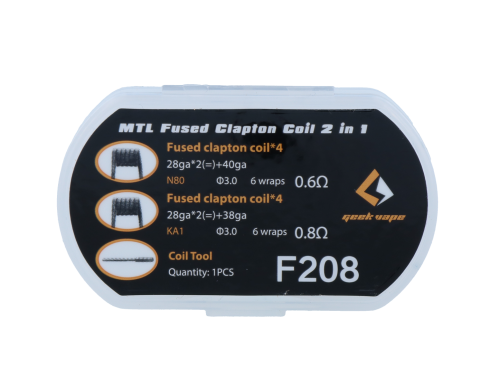 GeekVape MTL Fused Clapton Coil 2 in 1 F208