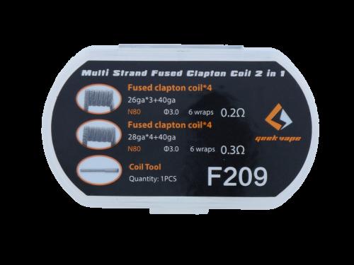 GeekVape Multi Strand Fused Clapton Coil 2 in 1 F209