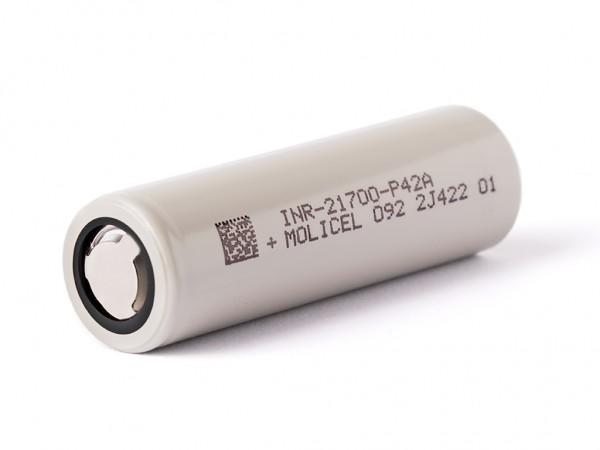 Molicel INR21700-P42A, 4200mAh 30A bis 45A Li-Ionen-Akku