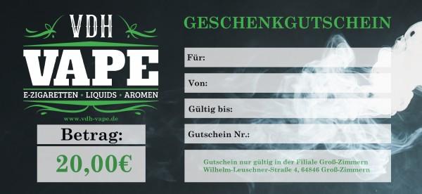 20,00 € Filiale Groß-Zimmern Gutschein